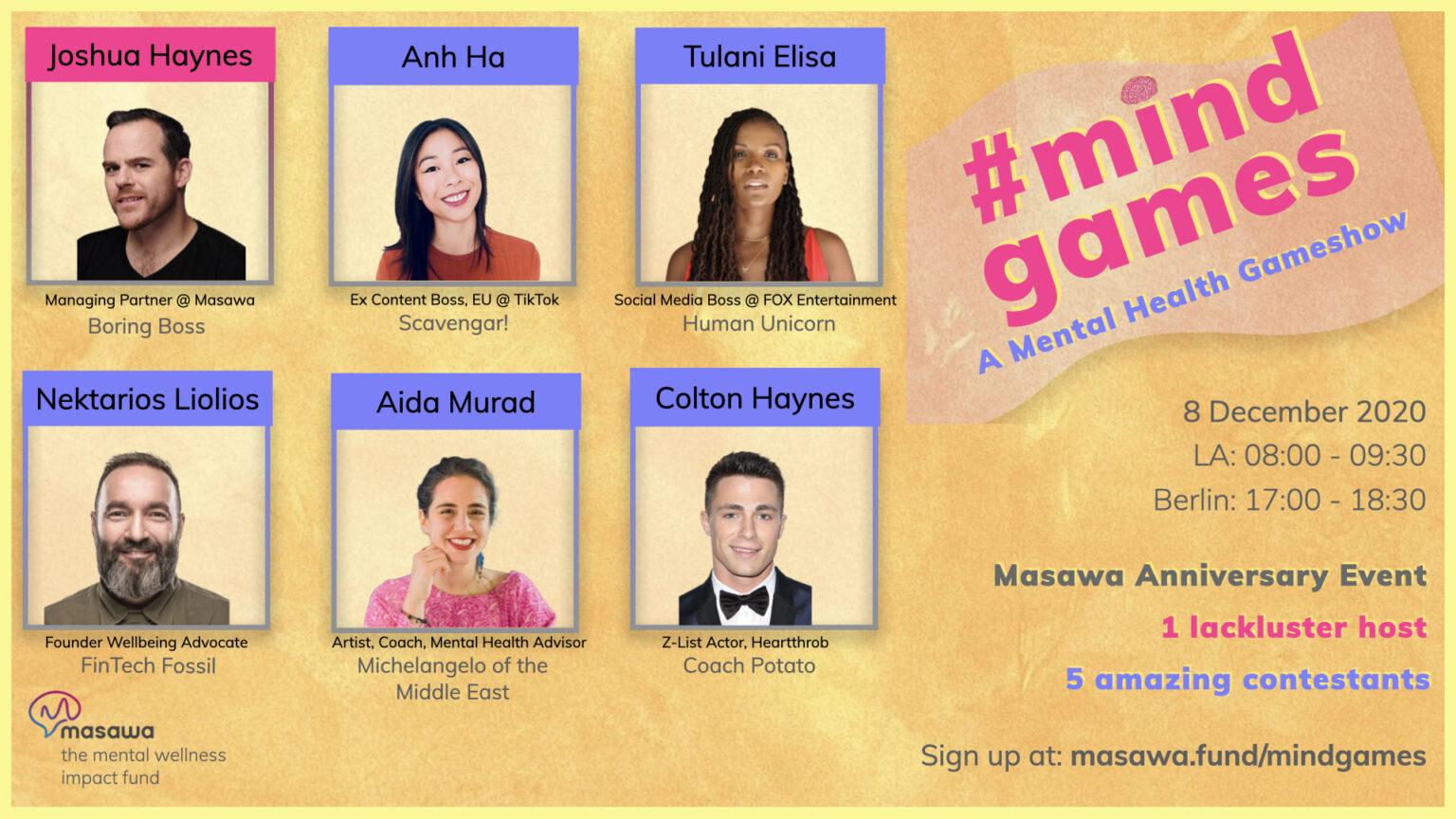 Masawa Mind Games Mental Health Gameshow Poster