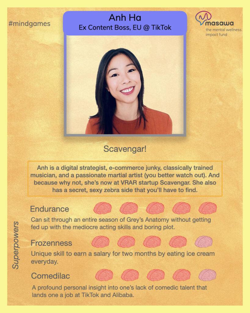 Masawa Mind Games Mental Health Gameshow Contestant Card